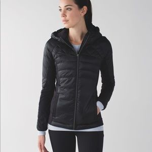 LULULEMON Jacket Black Down For a Run Down Filled